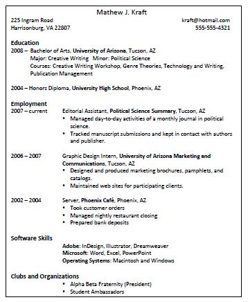 This is an image of a formatted resume